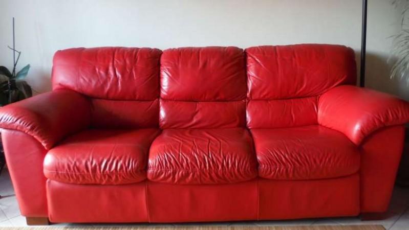Periscopio coppia divani 3 2 posti in vera pelle colore - Divano rosso pelle ...