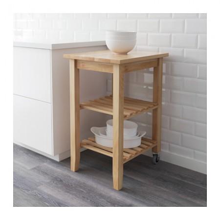 Periscopio carrello isola per cucina ikea bekv m for Ikea carrello cucina
